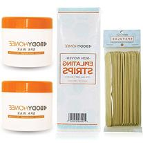 Extra Strength Hair Removal Spa Wax Kit for Men + Women -