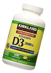 Kirkland Signature Extra Strength Vitamin D3 2000 I.U. 600