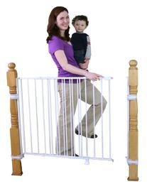 Regalo Extra Tall Top Of Stairs Gate, With Banister and Wall