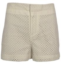DKNYC Women's Eyelet Short With Stretch Twill Side Panel And