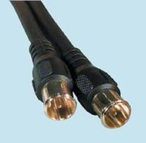12 ft F-Type Push-On Patch Cable RG59 M-M Gold Plated