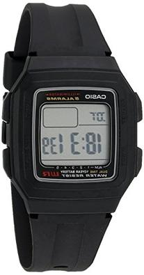 Casio Men's F201WA-1A Black Resin Digital Sport Watch
