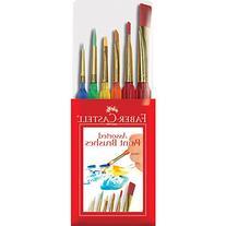 Faber-Castell 6ct Triangular Handle Paint Brush Set