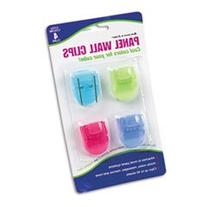 Fabric Panel Wall Clips, Standard Size, Assorted Cool Colors