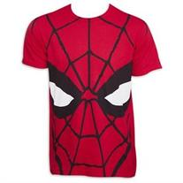 Spiderman Face TShirt - Red