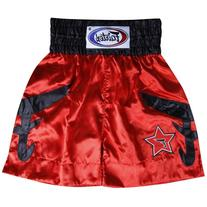 Fairtex F3 Boxing Trunk, X-Large, Red