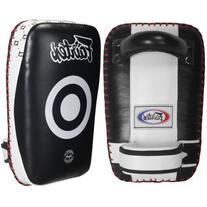 Fairtex Curved Kick Pads, Black/White