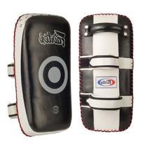 Fairtex Curved Standard Thai Kick Pads, Black/White