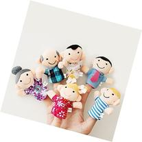 HIGHROCK 6pcs Family Finger Puppets - People Includes Mom,