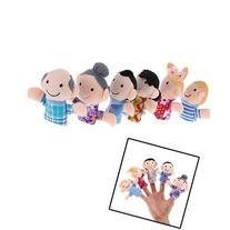 Denshine® New 6 Pcs Family Finger Puppets Play Game Story