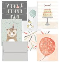 Fanciful Birthday Wishes - 36 Birthday Cards- 6 Designs -