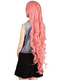 Simplicity Cosplay Fashion 40 Long Pink Curly Hair Wig +