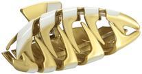 Caravan Extreme Fashion Design Gold And White Paints