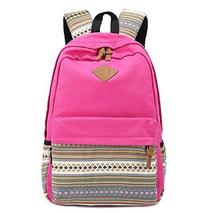 Unisex Fashionable Canvas Zip Bohemia Boho Style Backpack