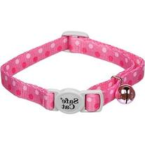 "Fashionable Safe Cat Collar - 3/8"" - Pink Dots"