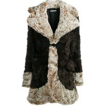 Alessandra Rich - faux fur coat - women - Acrylic/Polyester/
