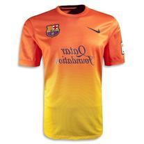 Nike Barcelona FC 2012/13 Away Soccer Jersey - Yellow/Orange
