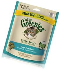 FELINE GREENIES 6oz Bag Ocean Fish