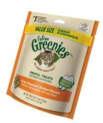 Feline Greenies Dental Treats Oven Roasted Chicken for Cats