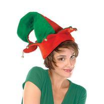 Felt Elf Hat w/Bells Party Accessory