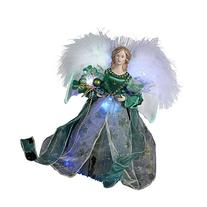 Kurt Adler Fiber Optic Irish Angel Treetop, 12-Inch