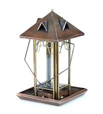 H Potter Top Fill Copper Hanging Wild Bird Feeder