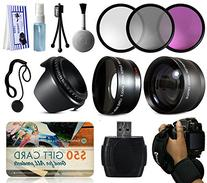 3 Piece Filter Kit  + 2.2x Telephoto Adapter + 0.43x Wide