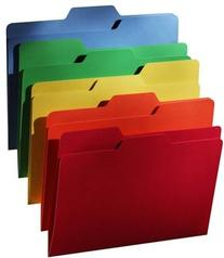 find It Findit File Folders, 1/3 Cut, 11 Pt Stock, Letter,