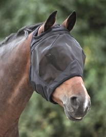 Shires Fine Mesh Fly Mask - Ear Holes - Size:Oversize Color: