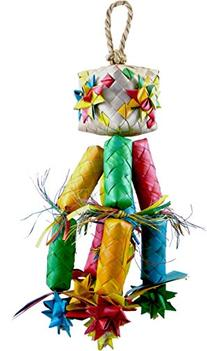 Planet Pleasures Firecracker Pinata Bird Toy, Large