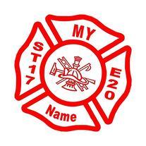 Firefighter Fireman Fire Department Maltese Cross Man cave