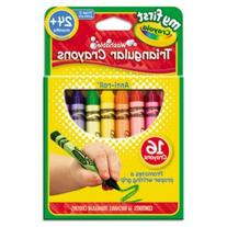 My First Washable Triangular Crayons, Wax,16/Set