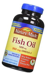Nature Made Fish OIL 1200 Mg, 360 Mg Omega-3: 400 Liquid