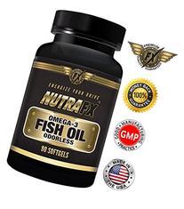 NUTRAFX Omega-3 Fish Oil 90 Soft-gels 1290 mg Per Serving