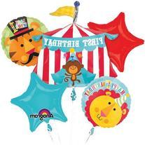 Fisher Price Happy Birthday Circus Animals Mylar Foil
