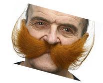 Fisherman's ginger moustache