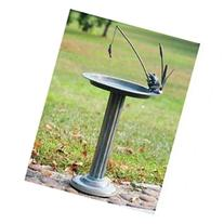 Fishing Frog Sundial/Birdbath, Pedestal, Metal Birdbaths