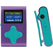 Eclipse Fit Clip 4GB MP3 Player, Purple/Teal