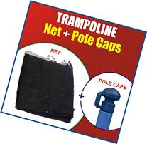 """Super Net & Pole Cap Set"" Fits For 15' Round Trampoline"