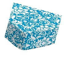 SheetWorld Fitted Pack N Play  Sheet - Turquoise Damask -
