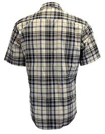 Enimay Mens Fitted Plaid Short Sleeve Button Down Shirt