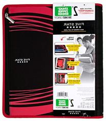 """Five Star 2"""" Zipper Binder, Removable Pencil Pouch Included"""