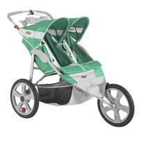 In Step Flash Fixed Wheel Double Jogger - Grass/Gray -