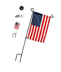 Garden Flag Stand with American Flag by GreenWeR: Wrought