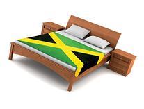 Fuzzy FlagsTM Fleece Jamaican Flag Blanket - 80-inch x 50-