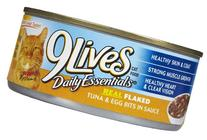 9Lives Flaked Entree - Tuna & Egg Bits in Sauce - 24 x 5.5