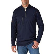 Ariat Men's Flame Resistant Work 1/4 Zip, Navy, X-Large