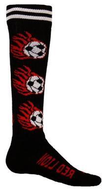 Red Lion Flaming Soccer Ball Socks