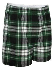 BoxerCraft Men's Flannel Boxers with Covered Waistband, X-
