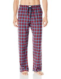 Ben Sherman Men's Flannel Traditional Plaid Lounge Pant, Red